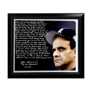 """Steiner Sports New York Yankees Joe Torre 1998 Team of the Century Facsimile 22"""" x 26"""" Framed Stretched Story Canvas"""