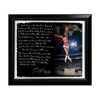 "Steiner Sports Atlanta Hawks Spud Webb Slam Dunk Contest Facsimile 22"" x 26"" Framed Stretched Story Canvas"