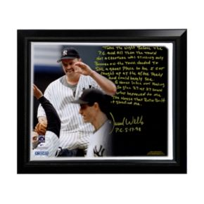 """Steiner Sports New York Yankees David Wells Perfect Game Facsimile 22"""" x 26"""" Framed Stretched Story Canvas"""