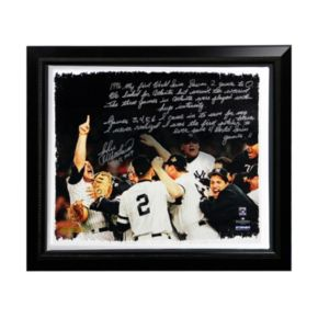 """Steiner Sports New York Yankees John Wetteland 1996 World Series Facsimile 22"""" x 26"""" Framed Stretched Story Canvas"""