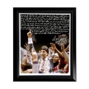 "Steiner Sports North Carolina State Wolfpack Dereck Whittenburg Jimmy V Facsimile 22"" x 26"" Framed Stretched Story Canvas"