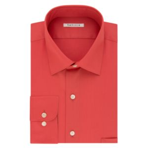 Big & Tall Van Heusen Regular-Fit Solid Lux Sateen No-Iron Spread-Collar Dress Shirt