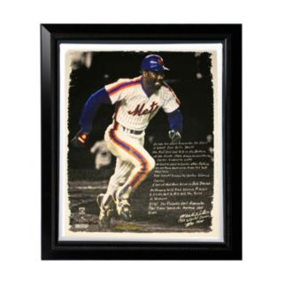 """Steiner Sports New York Mets Mookie Wilson 1986 Buckner Game Facsimile 22"""" x 26"""" Framed Stretched Story Canvas"""