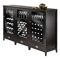 Winsome 3 pc Bordeaux Wine Cabinet Set