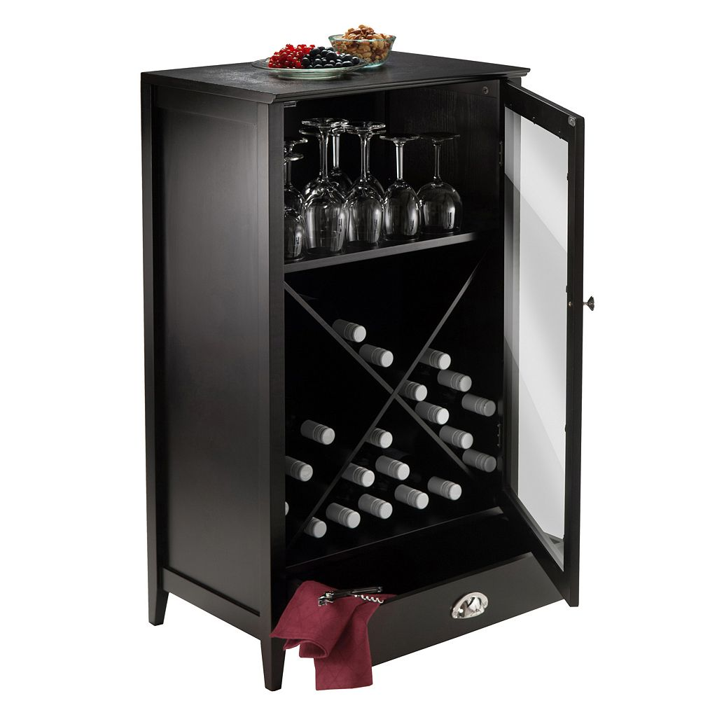 Winsome Bordeaux 24-Bottle Wine Cabinet