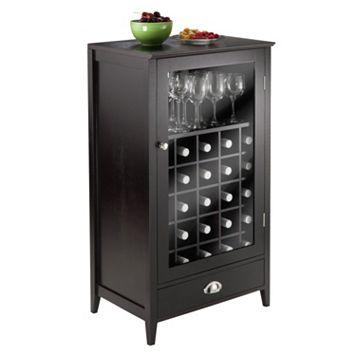 Winsome Bordeaux 25-Bottle Wine Cabinet