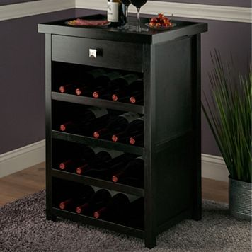 Winsome Zillah 20-Bottle Wine Cabinet