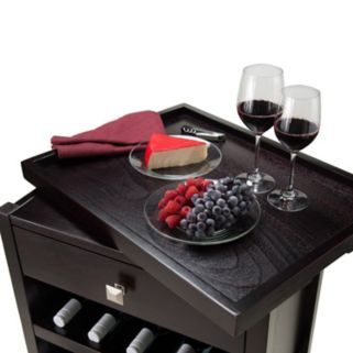 Winsome Zillah 20-Bottle Wine Cabinet