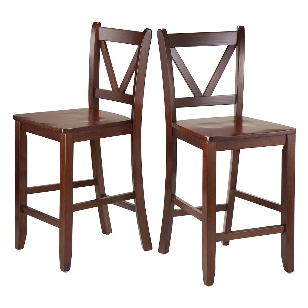 Winsome 2-piece Victor Counter Stool Set