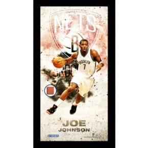 "Steiner Sports Brooklyn Nets Joe Johnson 10"" x 20"" Player Profile Wall Art"