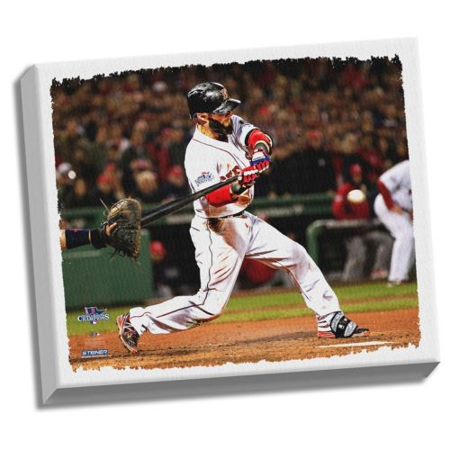 Steiner Sports Boston Red Sox Dustin Pedroia 22″ x 26″ Stretched Canvas