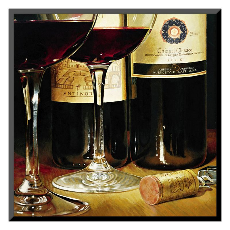 "Art.com ""Chianti Classico"" Wine Wall Art, Red"
