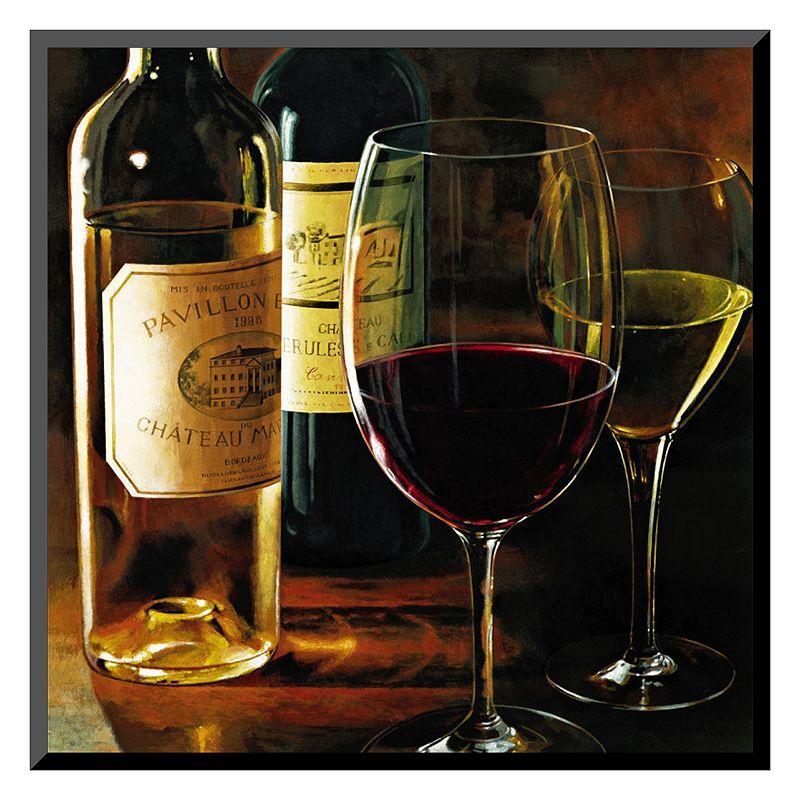 "Art.com ""Rouge et Blanc"" Wine Wall Art, Red"