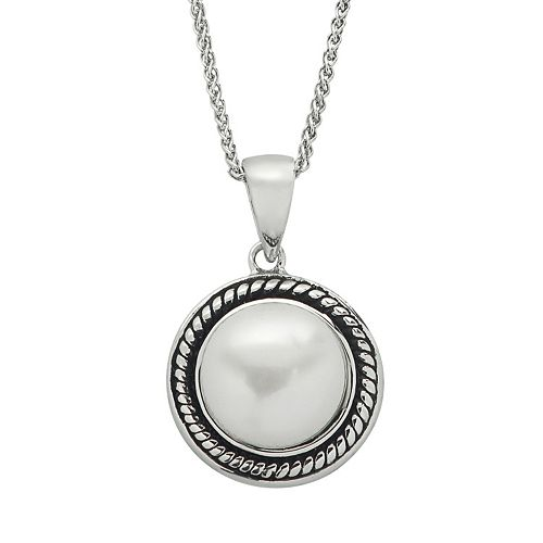 PearLustre by Imperial Freshwater Cultured Pearl Sterling Silver Pendant