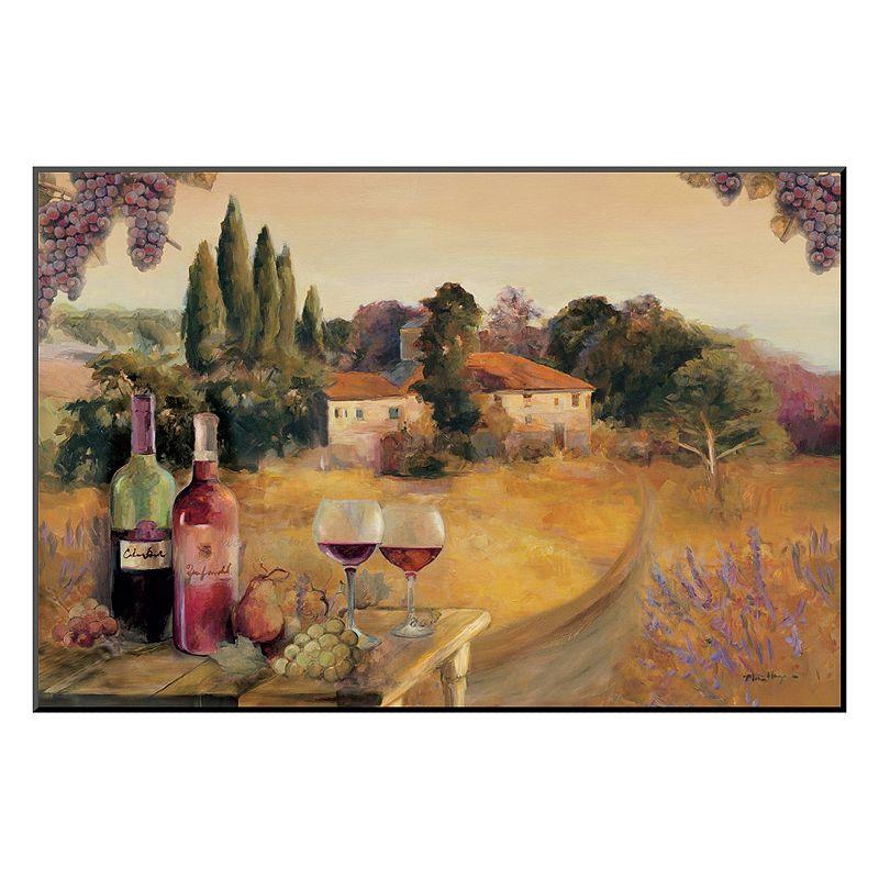 "Art.com ""Spoleto Afternoon"" Wine Wall Art, Red"