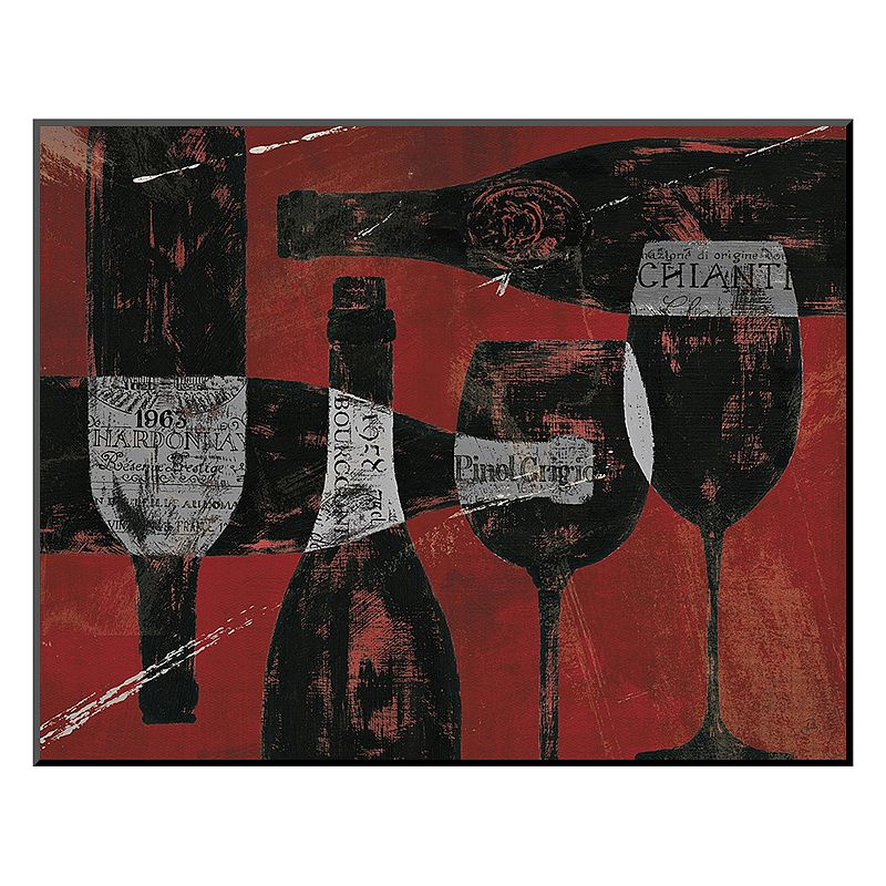 """Art.com """"Wine Selection III Red"""" Mounted Art Print, Red"""