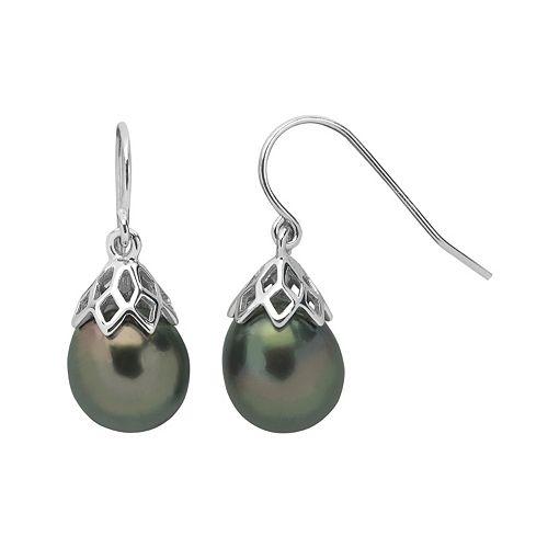 PearLustre by Imperial Tahitian Cultured Pearl Sterling Silver Drop Earrings