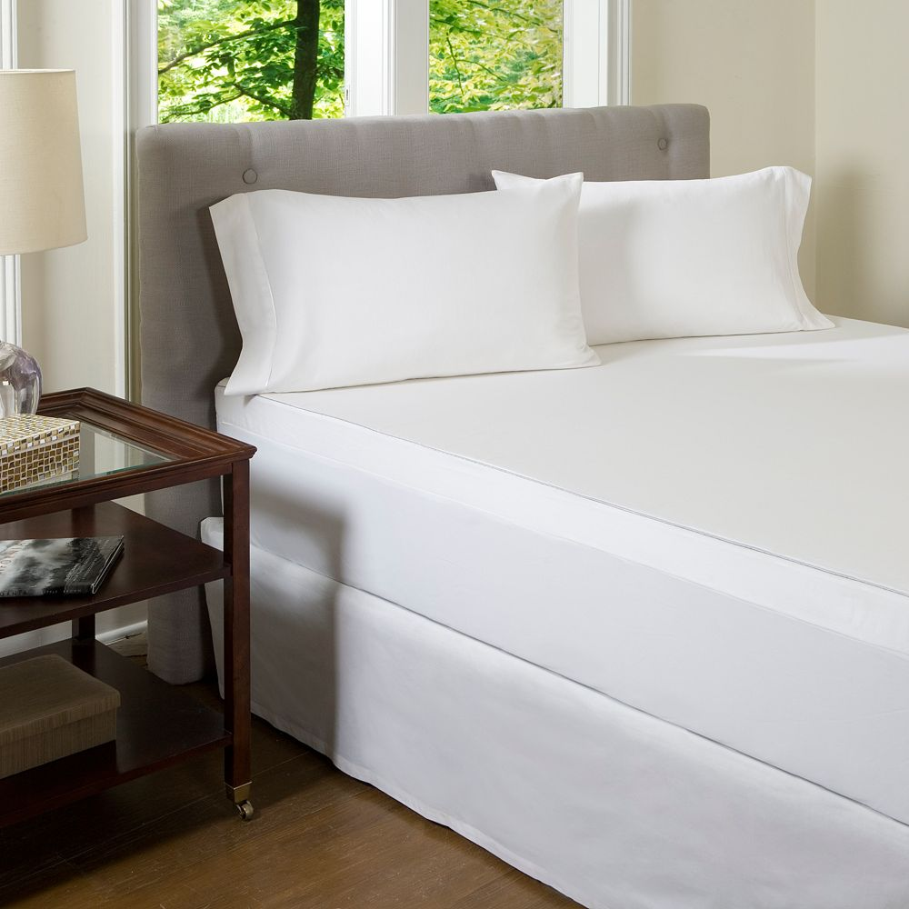 Solid 300-Thread Count Egyptian Cotton Mattress Topper Cover