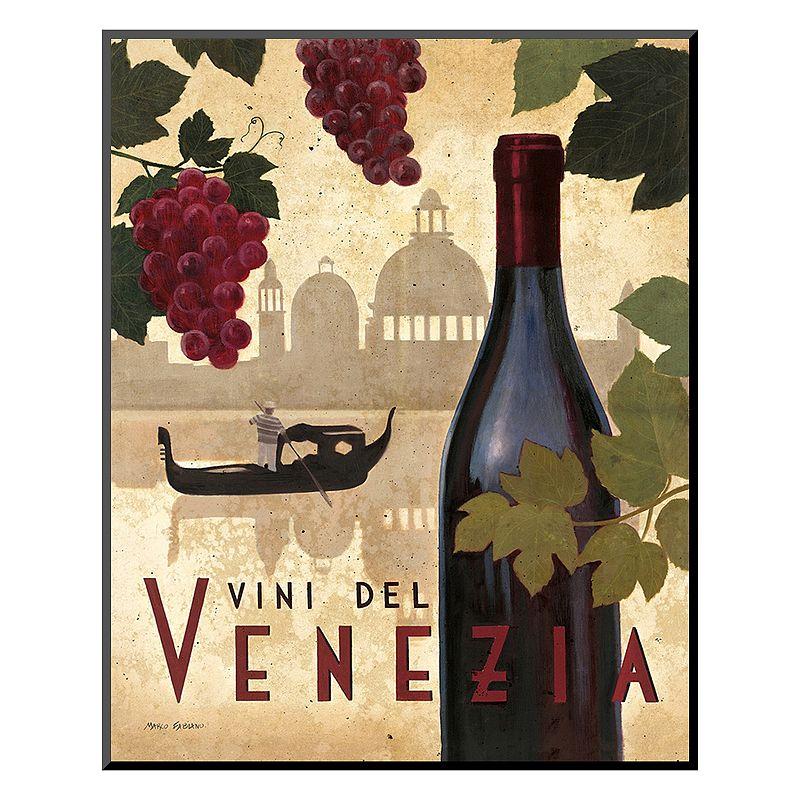 "Art.com ""Wine Festival II"" Mounted Art Print, Red"