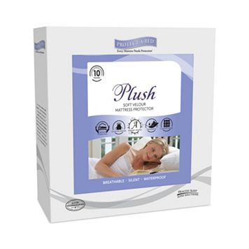 Protect-A-Bed Plush White Mattress Protector