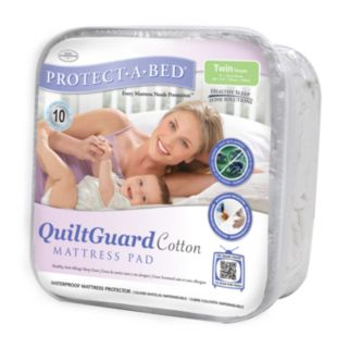 Protect-A-Bed QuiltGuard Cotton Mattress Pad