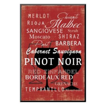 """Art.com """"Red Wine Collection Mini"""" Mounted Art Print"""