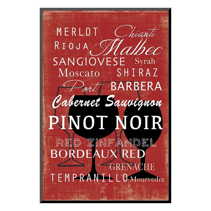 """Art.com """"Red Wine Collection Mini"""" Mounted Art Print, Red"""
