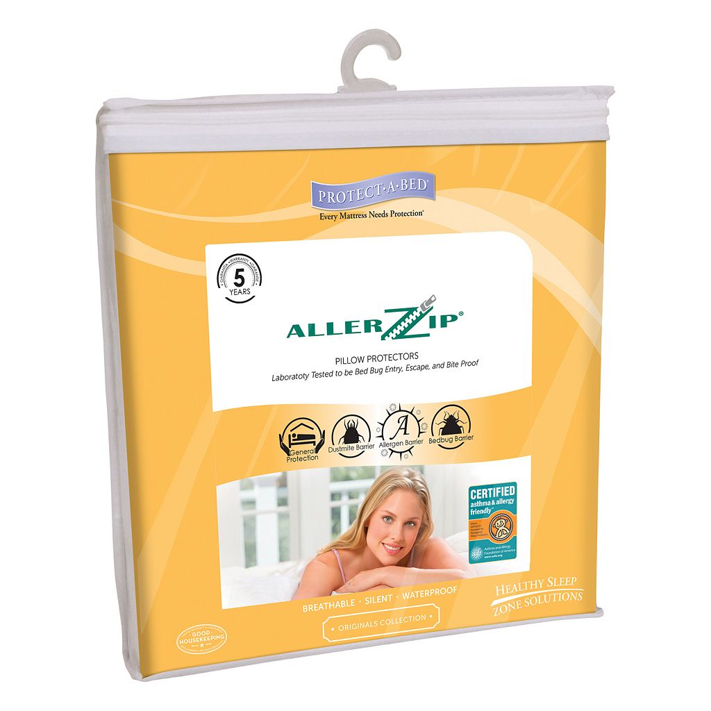 Protect-A-Bed AllerZip 2-pk. Smooth Pillow Protectors