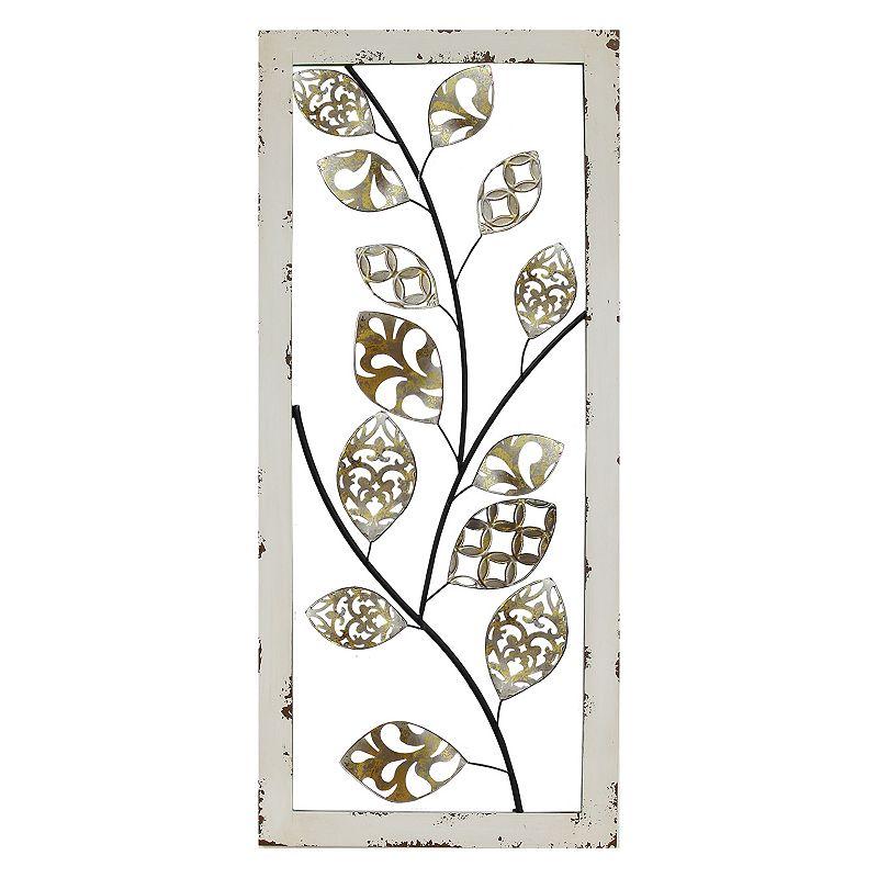 Stratton Home Decor Metallic Tree Vine II Panel Wall Decor (White)