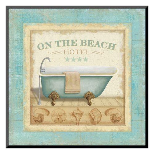 Art.com Beach Hotel I Mounted Art Print