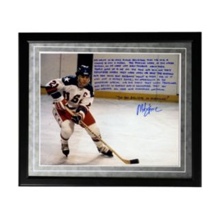 "Steiner Sports USA Hockey Mike Eruzione Miracle Facsimile 16"" x 20"" Framed Metallic Story Photo"
