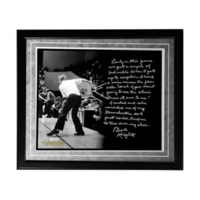 """Steiner Sports Indiana Hoosiers Bob Knight Chair-Throwing Facsimile 16"""" x 20"""" Framed Metallic Story Photo"""