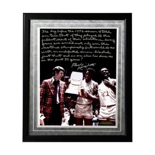 Steiner Sports Indiana Hoosiers Bob Knight Undefeated Season Facsimile 16 x 20 Framed Metallic Sto...