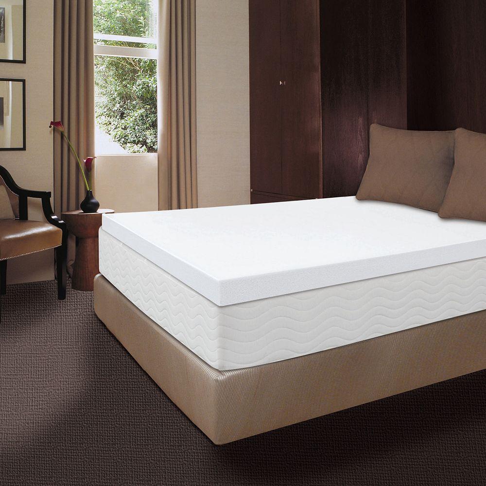 Dream Therapy 4-inch Memory Foam Mattress Topper - Therapy 4-inch Memory Foam Mattress Topper