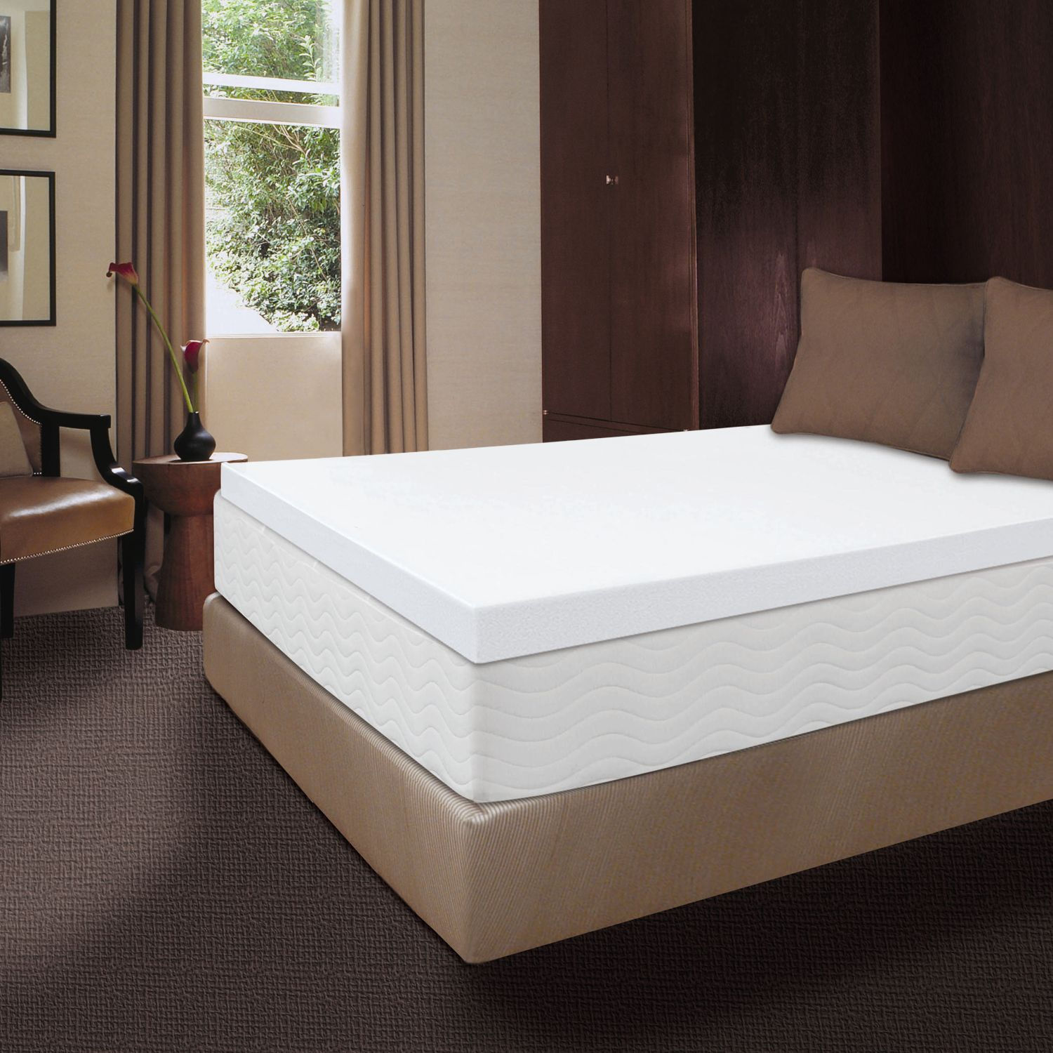 dream therapy 4inch memory foam mattress topper