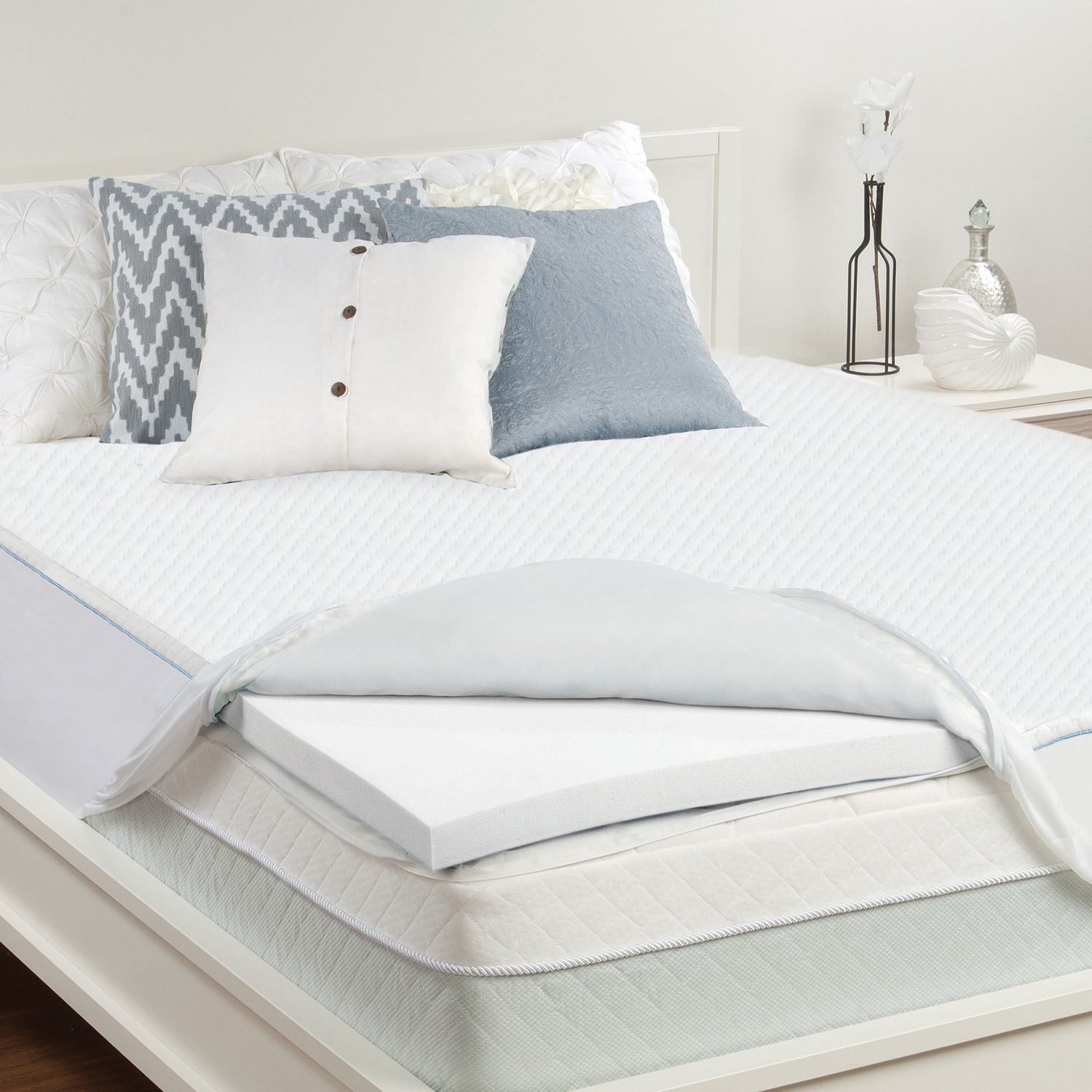 sealy 2inch memory foam deeppocket mattress topper