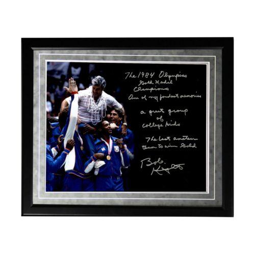 "Steiner Sports Indiana Hoosiers Bob Knight Winning Olympic Gold Facsimile 16"" x 20"" Framed..."