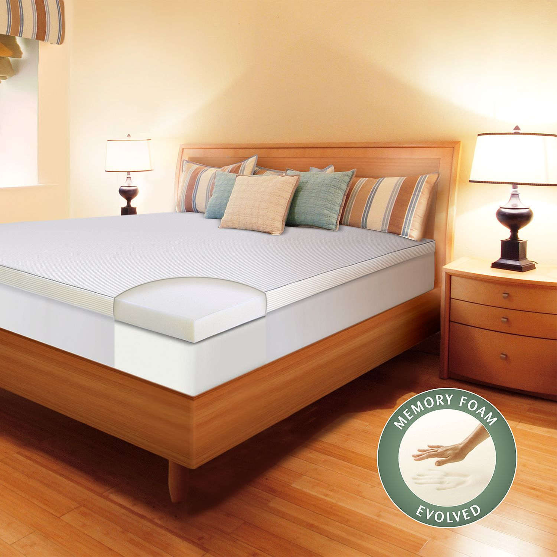 enhance 3inch memory foam mattress topper
