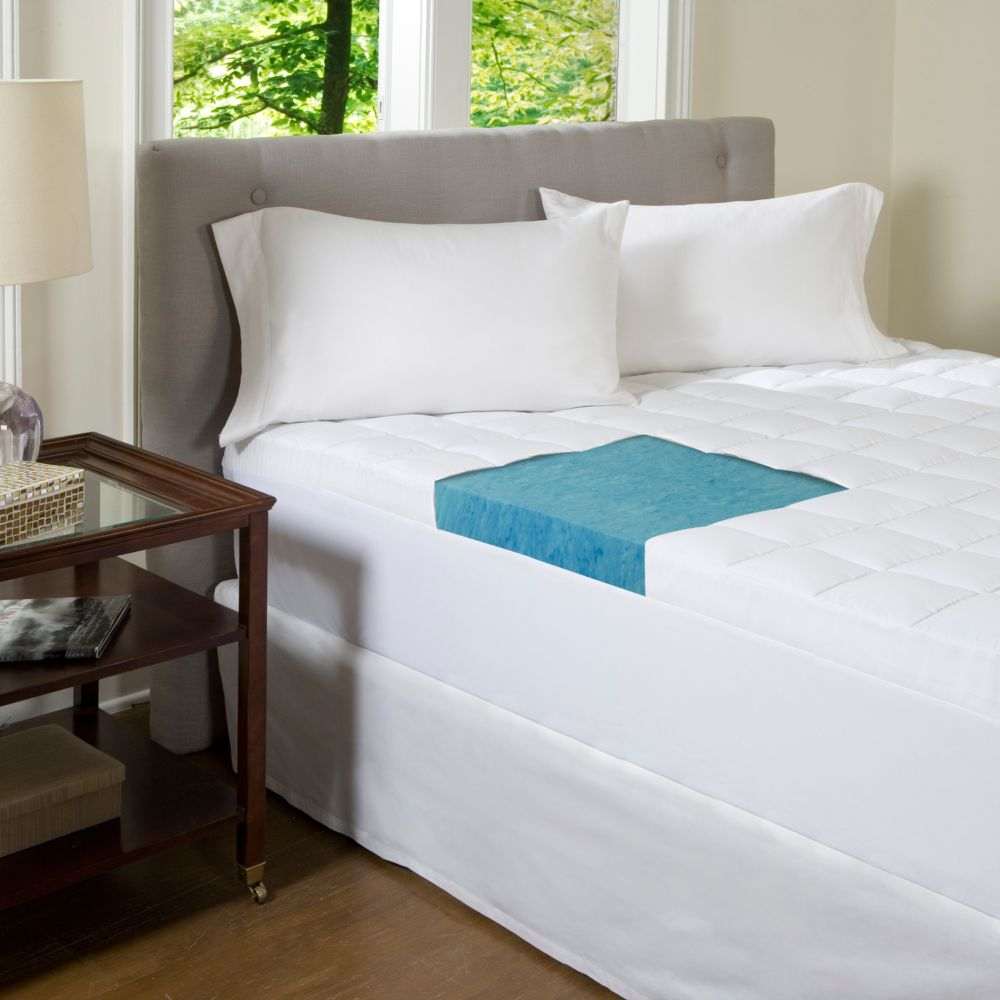comforpedic beautyrest 4 1 2 inch gel memory foam mattress topper