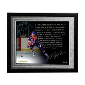 "Steiner Sports Edmonton Oilers Mark Messier Oilers Dynasty Facsimile 16"" x 20"" Framed Metallic Story Photo"
