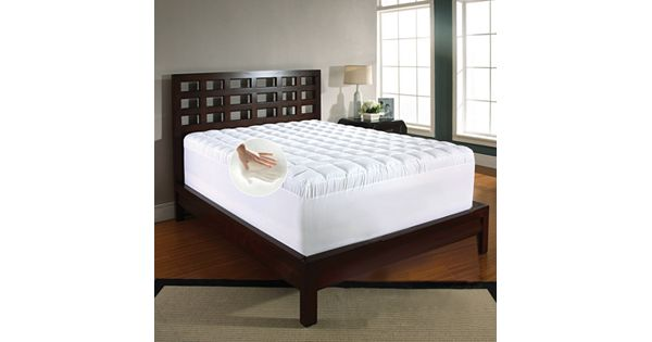 Memory Foam Amp Fiber 4 1 2 In Mattress Topper