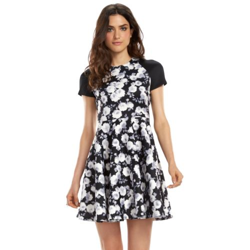 ELLE? 70th Anniversary Collection 2000s Floral Fit & Flare Scuba Dress - Women's