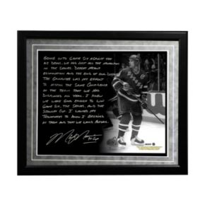 """Steiner Sports New York Rangers Mark Messier 1994 Stanley Cup Guarantee Facsimile 16"""" x 20"""" Framed Metallic Story Photo"""