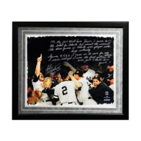 "Steiner Sports New York Yankees John Wetteland 1996 World Series Facsimile 16"" x 20"" Framed Metallic Story Photo"
