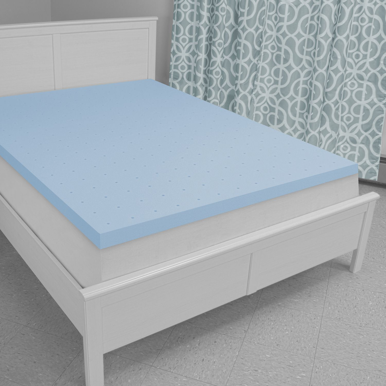 sensorpedic supreme 3inch memory foam mattress topper