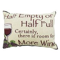 Park B. Smith ''Half Empty'' Wine Throw Pillow