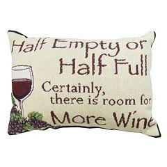 Park B. Smith ''Half Empty'' Wine Throw Pillow