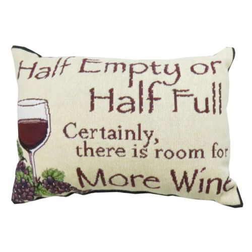 "Park B. Smith ""Half Empty"" Wine Throw Pillow"