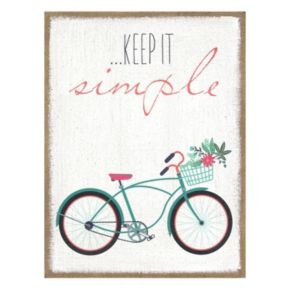 "Stratton Home Decor ""Keep It Simple"" Wall Art"