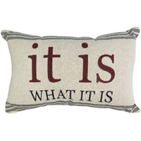 Park B. Smith ''It Is'' Throw Pillow